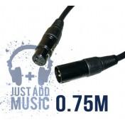 Cablu XLR Tata - XLR Mama - 0.75m