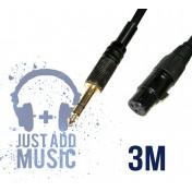 Cablu JACK 6.3mm - XLR mama - 3m