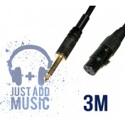 Cablu 3m XLR mama -  JACK BALANSAT