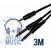 Cablu JACK 3.5mm - 2x JACK 6.3mm - 3m