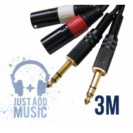 Cablu 2xJACK 6.3mm - 2x XLR Tata - 3m